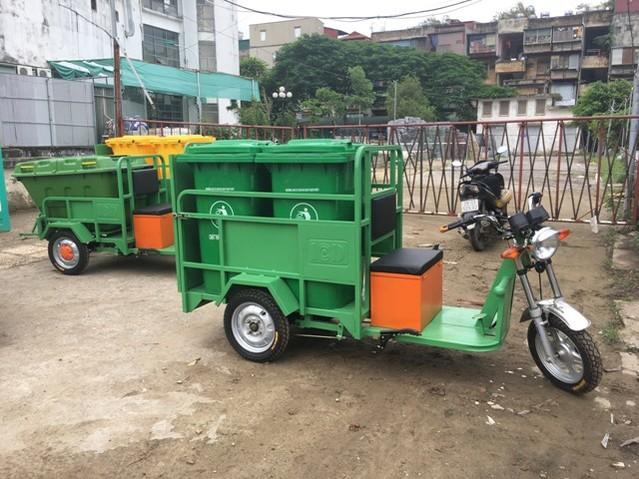 xe điện chở rác 2