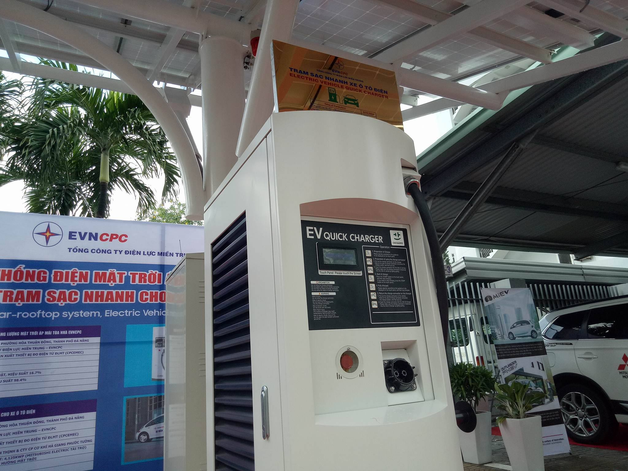 Đà Nẵng là địa phương đầu tiên có trạm sạc ô tô điện sử dụng năng lượng mặt trời.