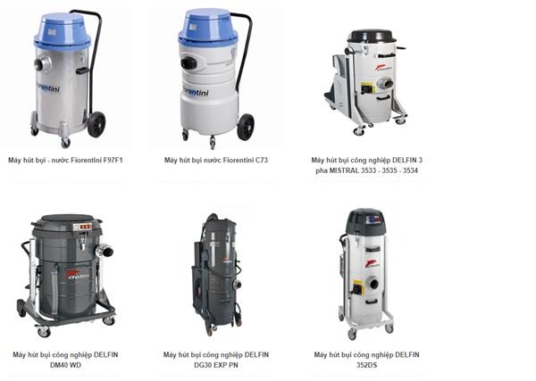 Máy hút bụi loại khô và nước được sản xuất từ nhiều thương hiệu với nhiều mẫu mã khác nhau
