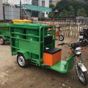 Xe chở rác 3 bánh chạy điện 480L