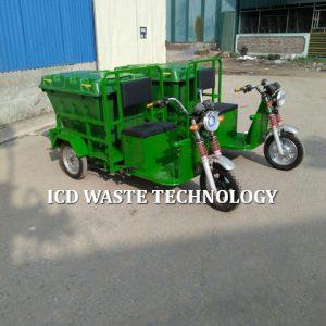 Xe điện thu gom rác ngõ xóm 400L