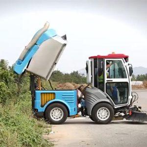 Xe quét rác hút bụi đường 500L chạy dầu